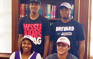 Four special seniors sign National Letters of Intent