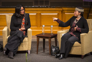 Daughters of Malcolm X speak at WFU on King Day