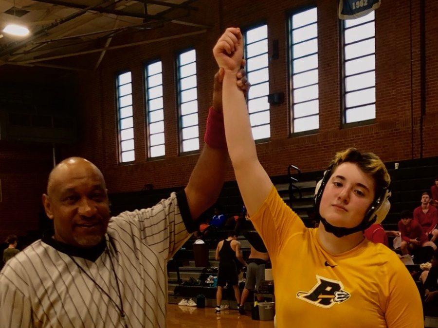 Making history: RJR's female wrestler